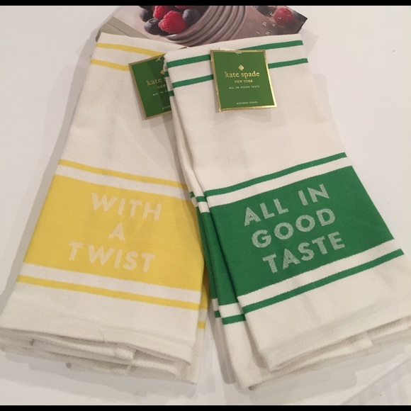 NWTs Kate Spade Kitchen Towel X 4!!! From