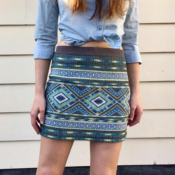 8702f3eaa1 American Eagle Outfitters Dresses & Skirts - American Eagle Woven Tribal  Print Skirt