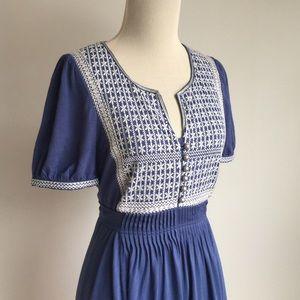 Monsoon Dresses & Skirts - Blue Embroidered Monsoon Dress