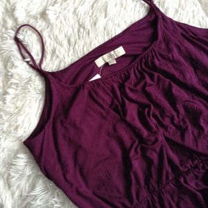 LOFT purple spaghetti strap NWT drop waist dress