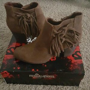 Fergalicious Shoes - fringed booties