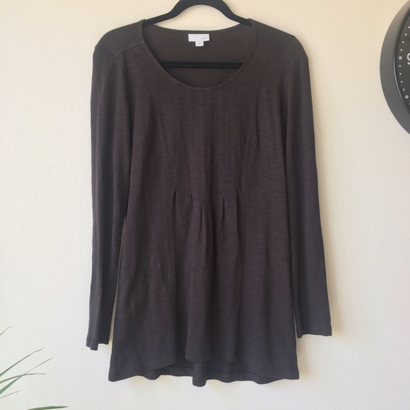 8fdfa50a J. Jill Tops | Salejjill Brown Long Sleeves Top | Poshmark