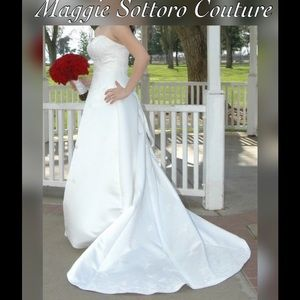 Embroidered Maggie Sottero Wedding Dress