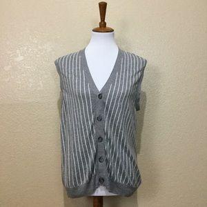 Club Monaco Jackets & Blazers - Club Monaco Androgynous Striped Button Down Vest