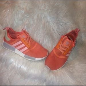 Adidas NMD coral salmon shoes