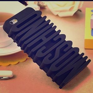 MOSCHINO Black Silicone iPhone Case