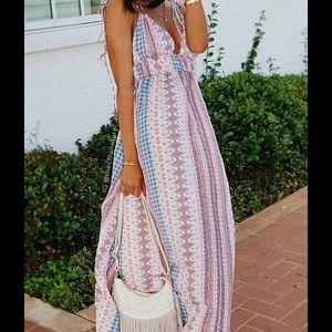 Lulu's Dresses & Skirts - Multi Print Maxi Dress