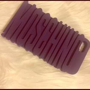 Moschino Accessories - MOSCHINO Purple Silicone iPhone Case