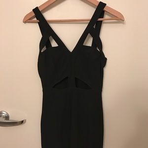 Tobi black cutout dress