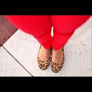 Calf Hair Animal Printed Flats