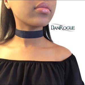 Dani Rogue Jewelry - Denim Choker - Dark & Light