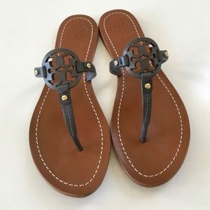 Tory Burch Shoes - Tory Burch Mini Miller Leather Flat Thong Sandals