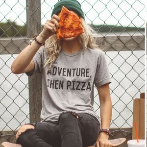 << Adventure Then Pizza Graphic Tee >>