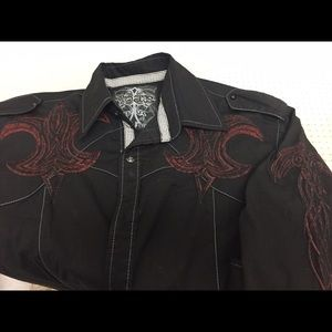 Roar Other - EMBROIDERED BEAUTIFULLY Detailed Men's shirt sizeS