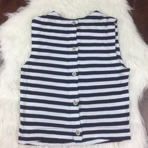 Soft Joie Button back crop top