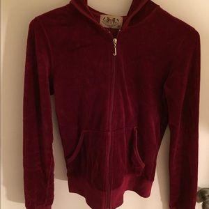 Juicy Couture Sweaters - Juicy red velour hoodie
