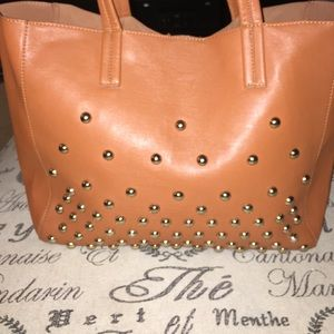 Handbags - Studded Tote Handbag