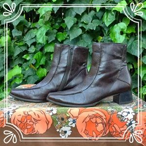 Paul Green Shoes - Paul Green Leather Heeled Boots