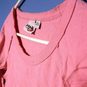 BUCKLE Distressed Pink Long-Sleeve Top