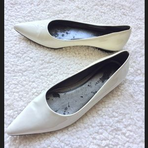 Naturalizer Shoes - Naturalizer Pointed White Flats