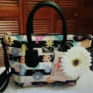 "Betsy Johnson  Handbags - Betsy Johnson NWT ""Luv Betsy"" Satchel /Xbody Bag"
