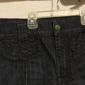 7 For All Mankind Shorts - Dark Wash CutOff Jean Shorts