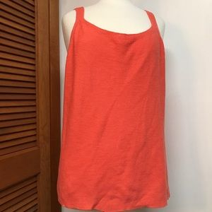 Eileen Fisher Woman Orange Knit Tank Top