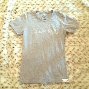 Diamond Supply Co. Tops - Diamond Supply Co 💎 Gray Logo T shirt