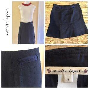 Nanette Lepore Dresses & Skirts - Nanette Lepore navy blue size 2 skirt