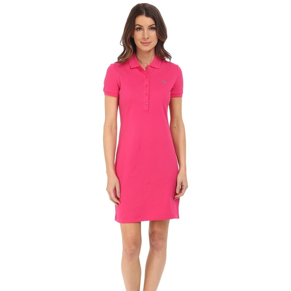 3716aa769e6b Lacoste Dresses & Skirts - Lacoste Women's Polo Shirt Dress Pink