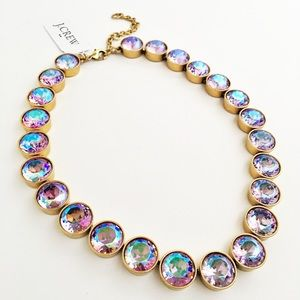 J. Crew Jewelry - Iridescent Crystal Dots Necklace Pink