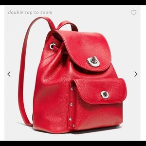 Coach Handbags - ❤🌹NEW AUTHENTIC COACH MINI LEATHER BACKPACK