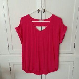 Pleione Tops - PLEIONE high-low Summer Tunic in Pink
