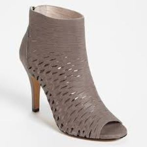 Vince Camuto Shoes - Vince Camuto caged leather perforated booties