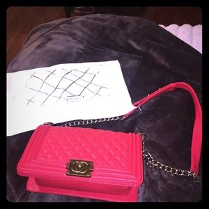 Burberry Handbags - Red Chanel crossbody