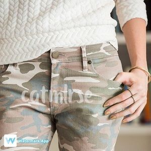 LOFT Denim - LOFT Camo Relaxed Skinny Jeans Camouflage