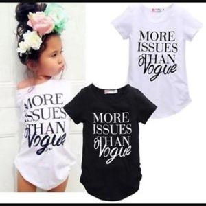 Other - Toddler vogue t shirt runs small