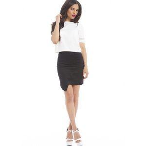 other Dresses & Skirts - Black slanted wrap skirt