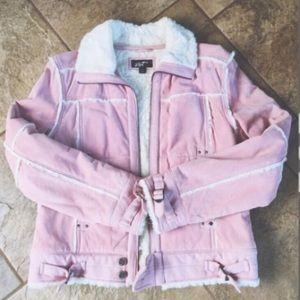 Black Rivet Jackets & Blazers - WILSONS LEATHER Pink Leather Coat