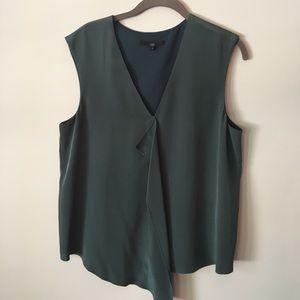 Tibi Tops - Tibi silk blouse  a beautiful deep emerald green