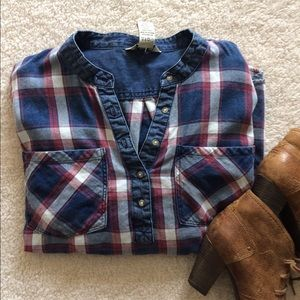 Indigo Rein Tops - Flannel top