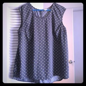 Merona Tops - Grey Polka Dot Shirt