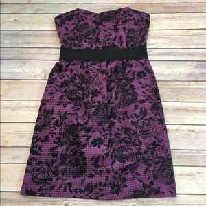 👒Small UO Silence + Noise Strapless Dress Purple