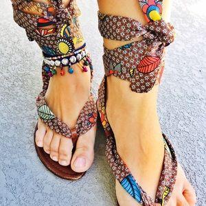 Sergio Rossi Shoes - Sergio Rossi silk tie sandals