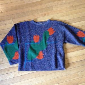 Marimekko Sweaters - Marimekko indigo abstract design sweater
