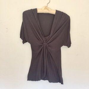 Velvet Tops - 👚 Velvet Short Sleeved Charcoal Top