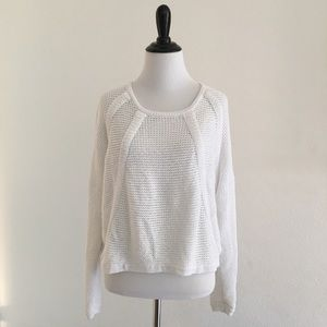 Helmut Lang Tops - Helmut Lang Knit Oversize Cropped Sweater size S