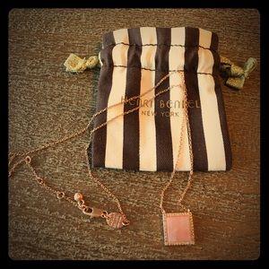 henri bendel Jewelry - Henri Bendel pink quartz & rose gold necklace