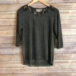 Dantelle Tops - Dantelle boho lace back blouse