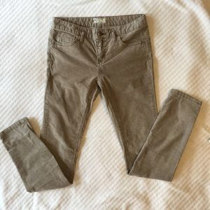 Free People Pants - Free People light tan skinny cord size 28